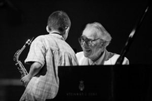Litchfield Jazz Camper performing with Dave Brubeck at 08' Festival. Photo: Steven Sussman